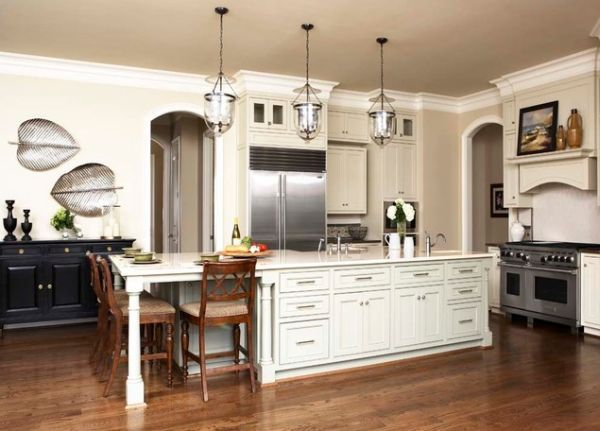 30 Kitchen Islands With Tables A Simple But Very Clever Combo Kitchen Island And Table Combo Kitchen With Long Island Kitchen Island Table