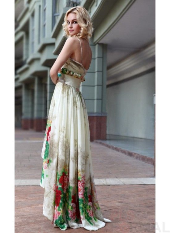 Formal Dress For Wedding Guest High Low Dresses Printed