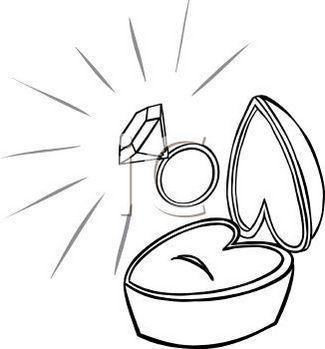Diamond Ring In Box Clip Art