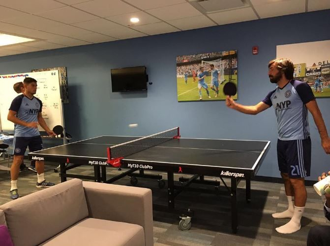 5 Celebrities That Love Ping Pong Ping Pong Table Tennis Game Andrea Pirlo