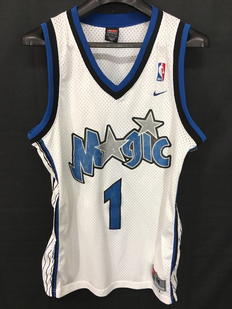 the latest 63a09 f5aa8 Details about Vintage NBA Nike Orlando Magic Tracy McGrady ...