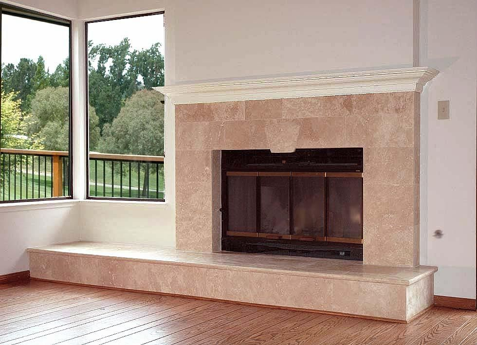 Pin by grig stamate on interior design reface fireplace - How to reface a brick fireplace ...
