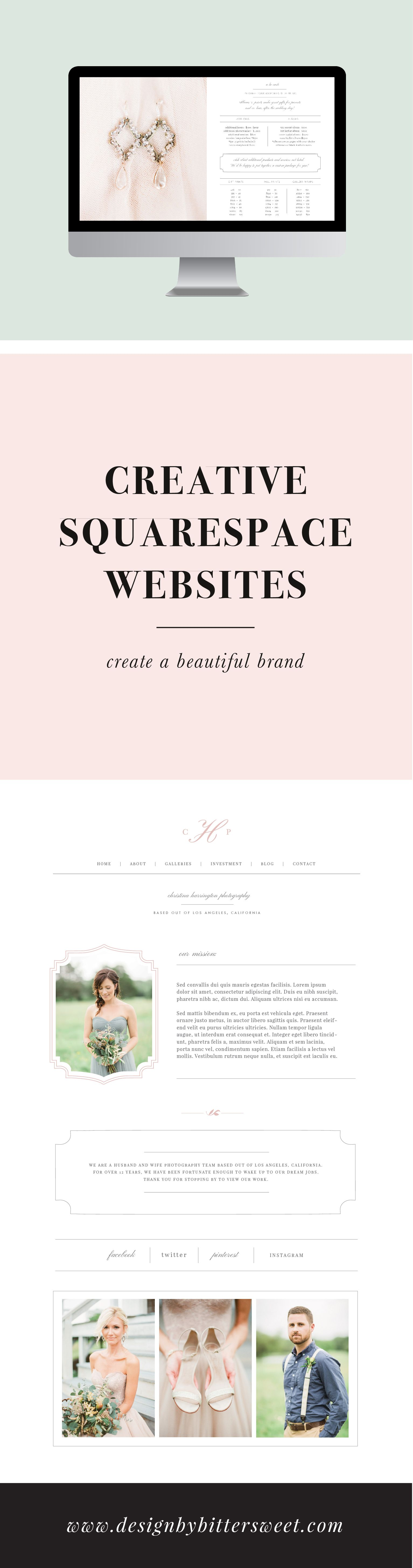 Squarespace Template Wedding Welcome Package For Photographers