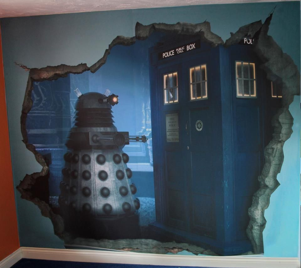 Dr Who's arch nemesis The Daleks feature on the mural Mark