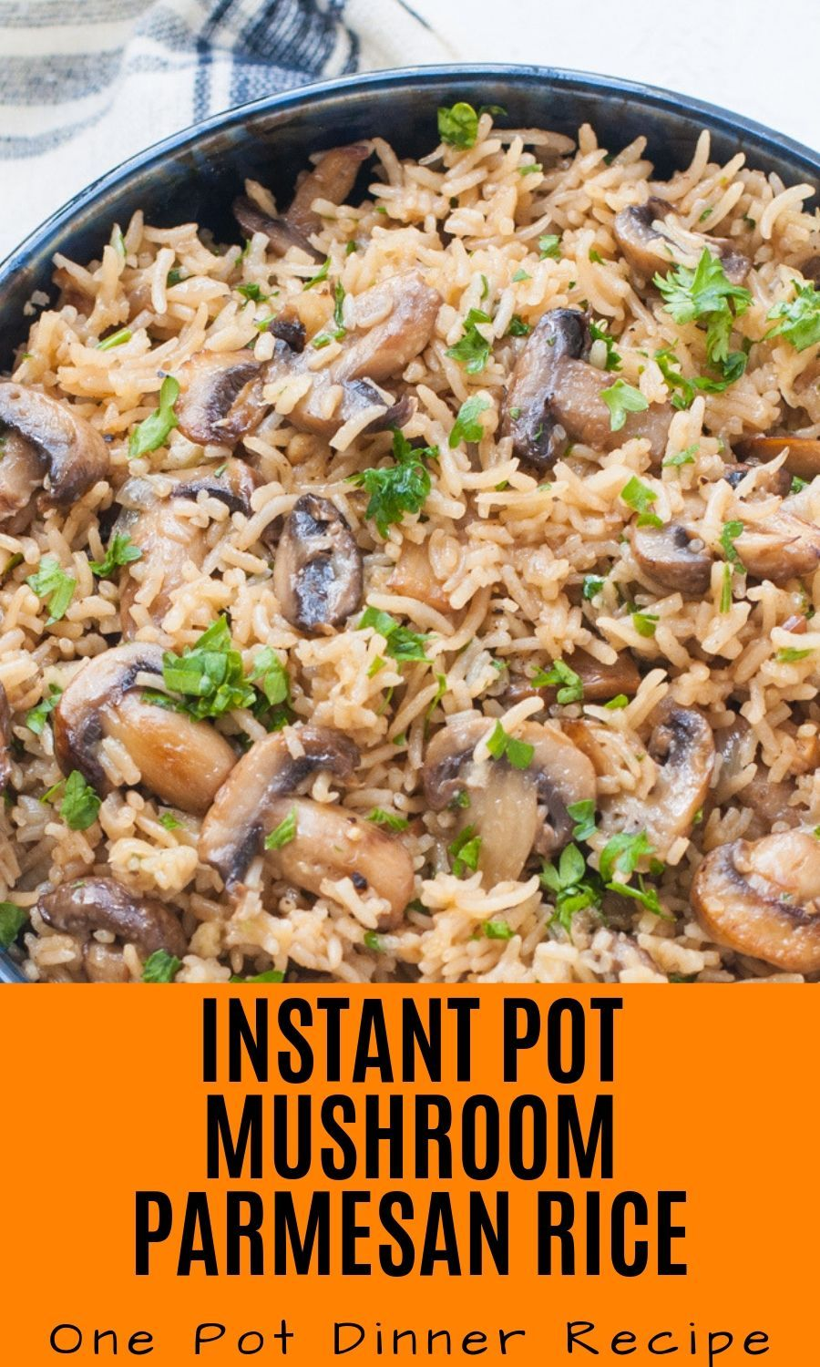 Instant Pot Mushroom Rice - with parmesan Cheese