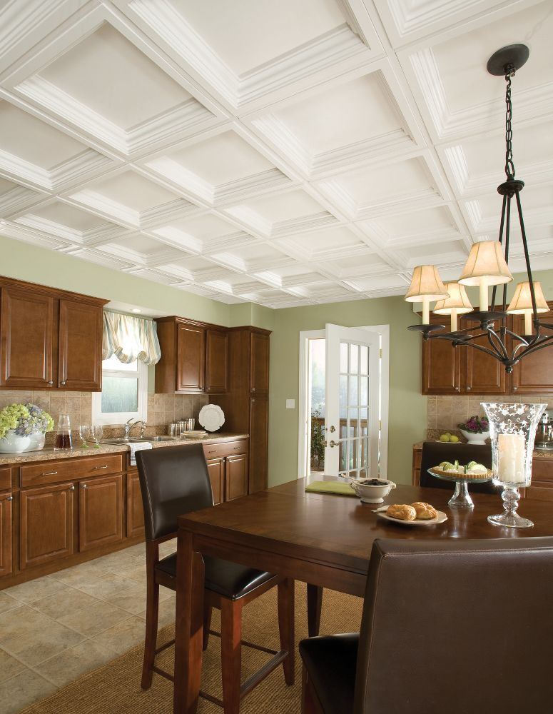 Easy Elegance Coffer Easy Elegance Coffered Paintable 2 X 2 Panel 1280 By Armstrong Drop Ceiling Tiles Home Home Decor