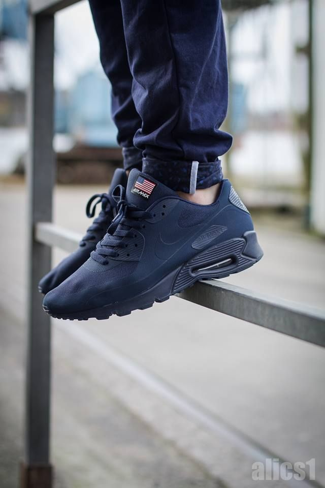 discount sale 61863 2929e ... black · nike air max 90 hyperfuse independence day navy
