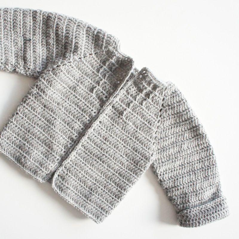 Babay uld cardigan - hæklet - OPSKRIFT GRATIS | A crochet y 2 agujas ...