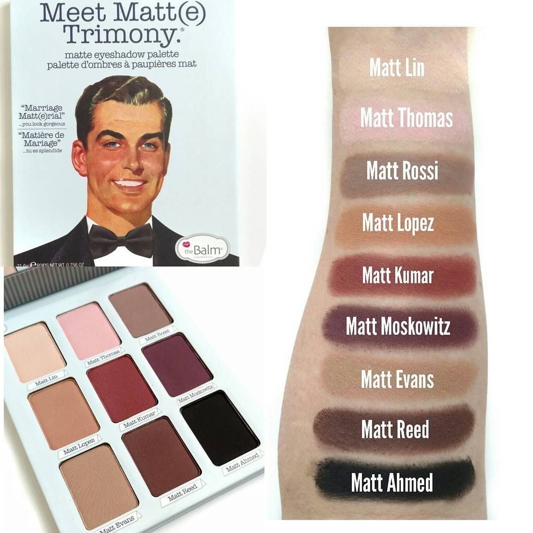the balm meet matte palette swatches for kids