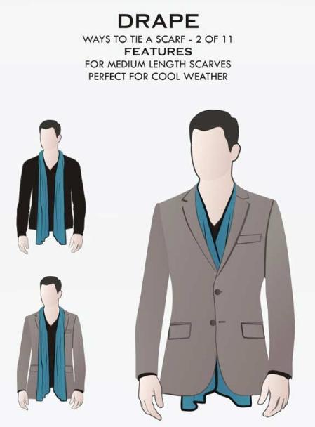 11 männliche Arten, Männer Schals zu tragen in 2020   Männer