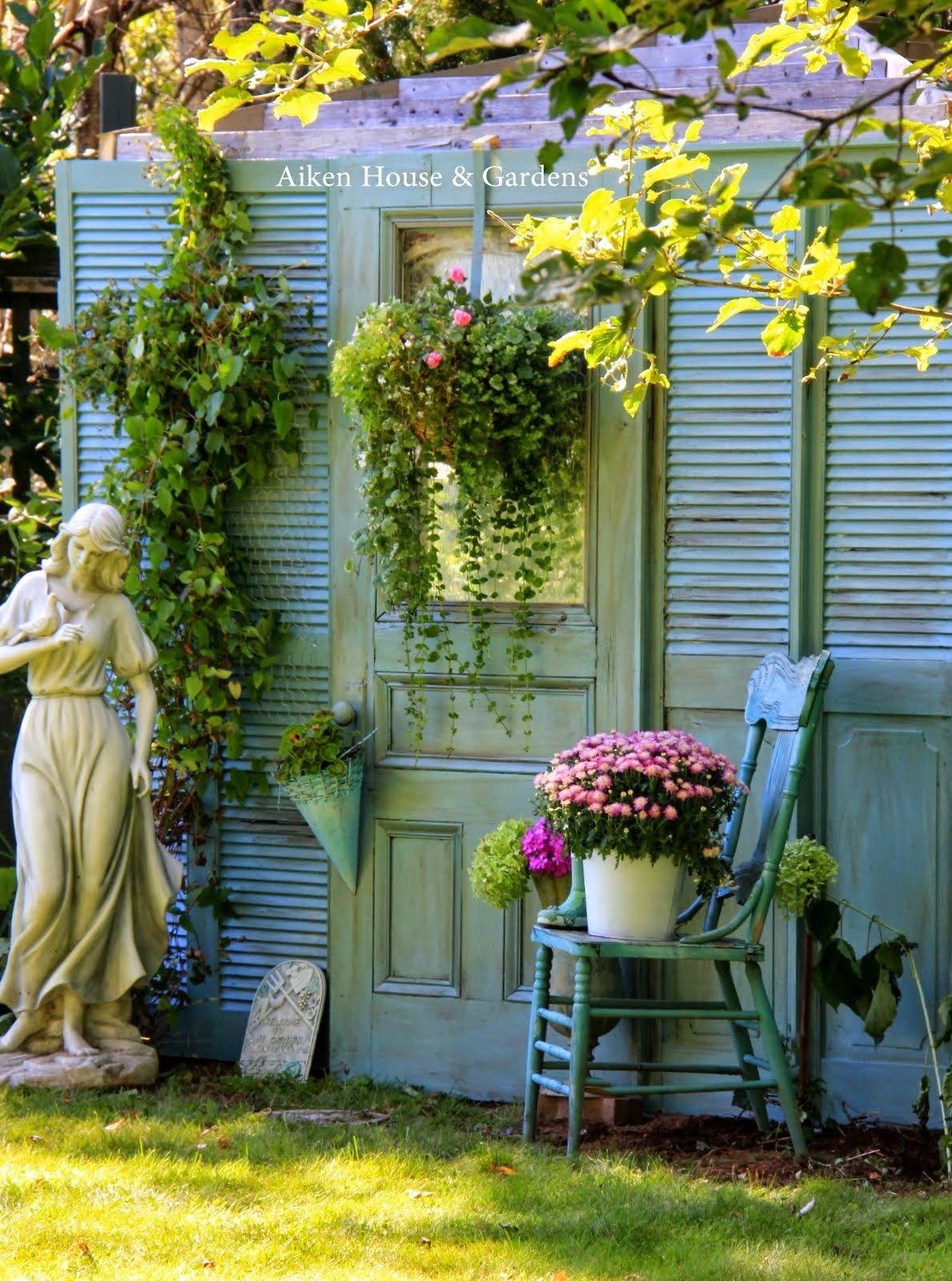 Aiken House & Gardens: Fake Garden Shed Makeover | Aiken House ...