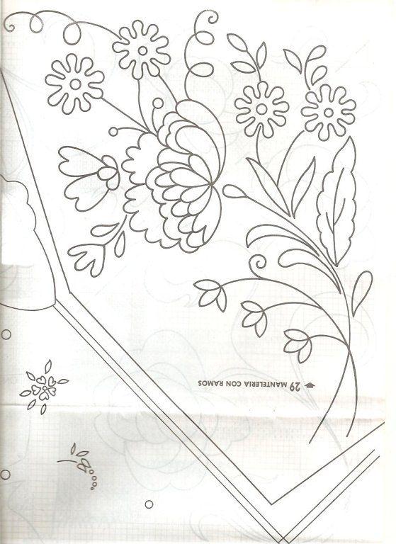 Dibujos de flores para bordar a maquina imagui gloria for Cenefas para dibujar