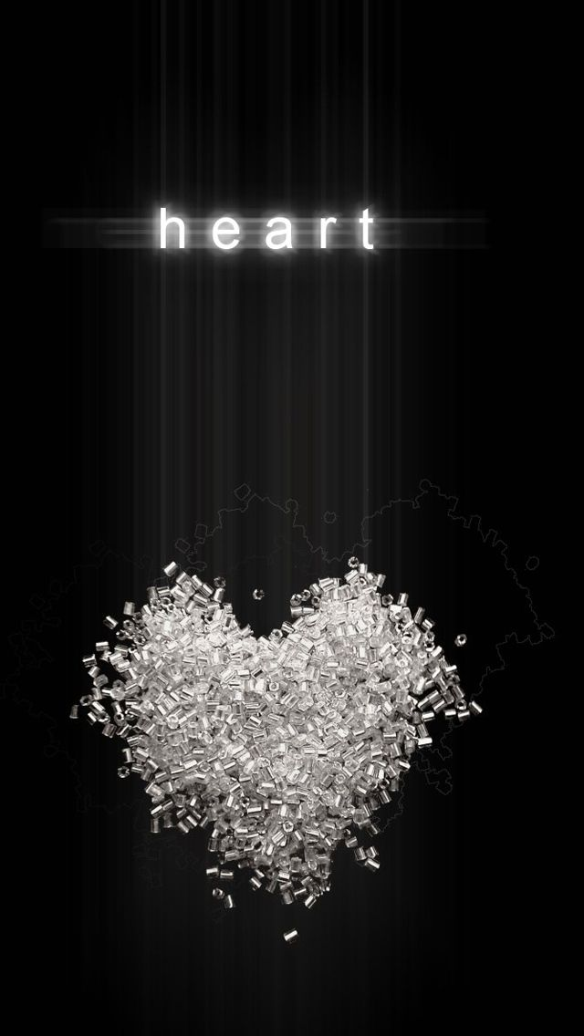 Heart Black Background IPhone 5s Wallpaper
