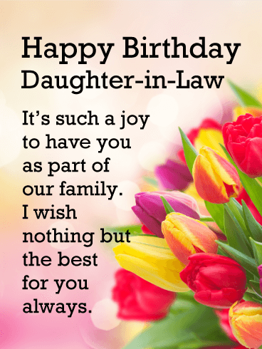 Such A Joy Happy Birthday Card For Daughter In Law Birthday Greeting Cards By Davia Birthday Wishes For Daughter Birthday Greetings For Daughter Wishes For Daughter