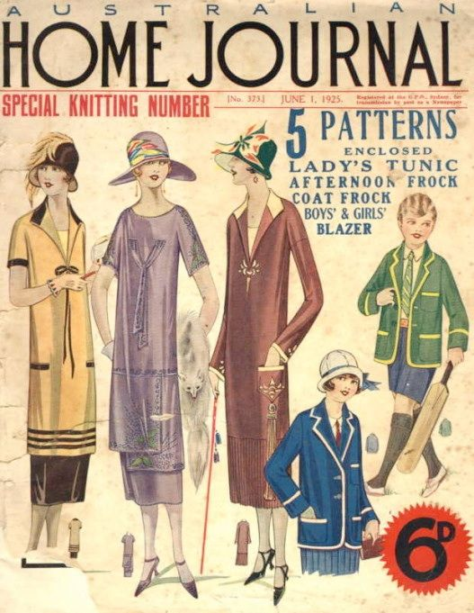1920\u0027s fashion magazine for the family