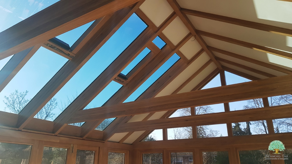 Oak Garden Room Garden Room Gardenroom Oak Garden Room With Tiled Roof Solar Control Glass And Roof Vents Gardenroom Roofgl In 2020 Garden Room Conservatory Oak