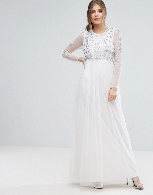$84 wedding dress for casual wedding. Modest with white shell ...