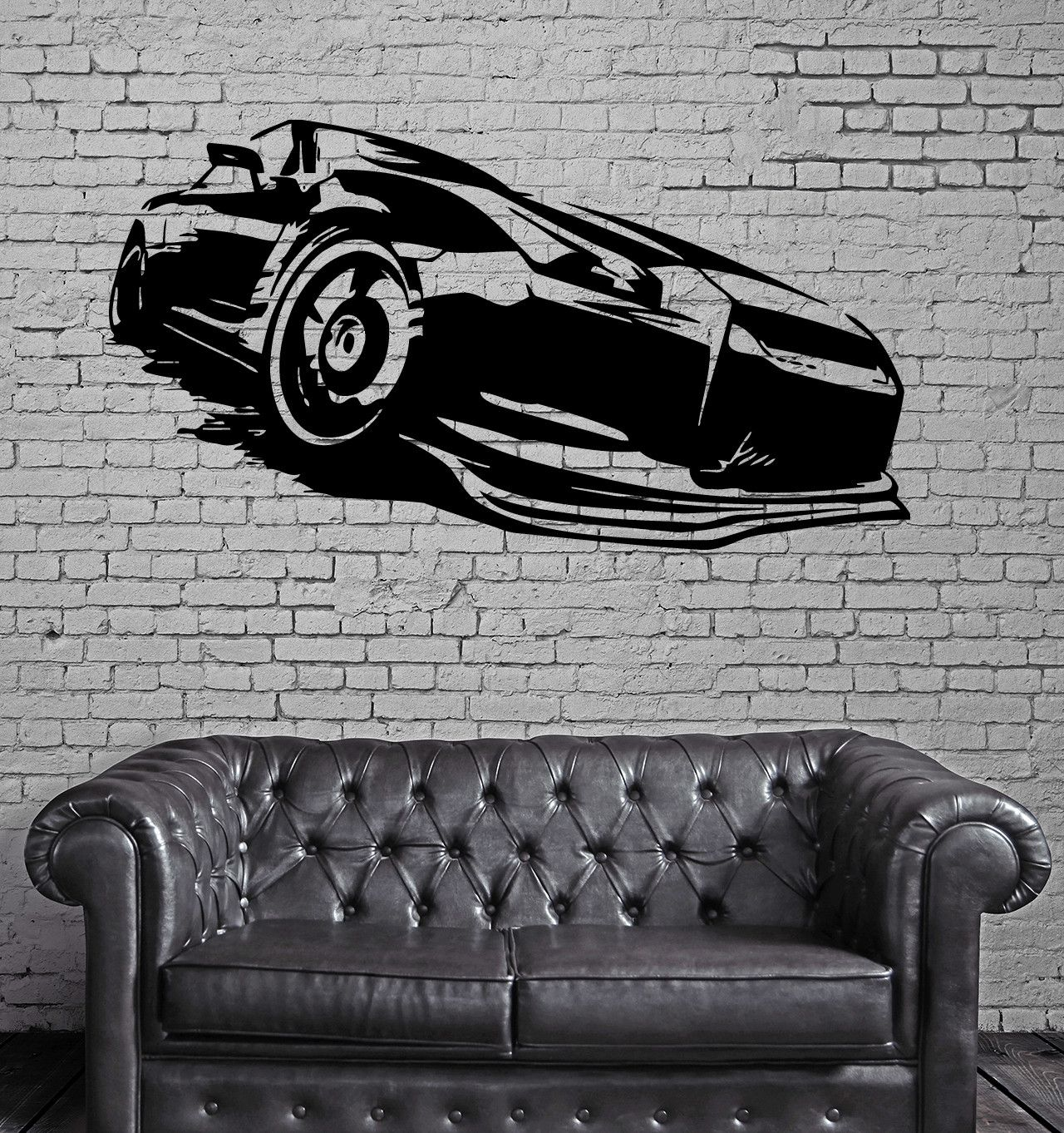 Street Racing Fast Muscle Cars Auto Decor Wall Mural Vinyl Decal Sticker M424