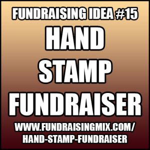 Stamp hands and raise money with this simple fundraising event! #fundraising #fundraiser #stamp