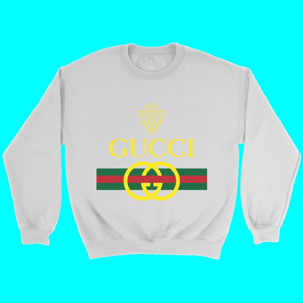Gucci Crewneck Vintage Bootleg Sweatshirt Crewneck Vintage Sweatshirts Red Crewneck [ 1174 x 1500 Pixel ]