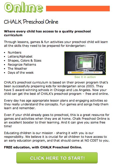 FREE online preschool program open to anyone with internet ...