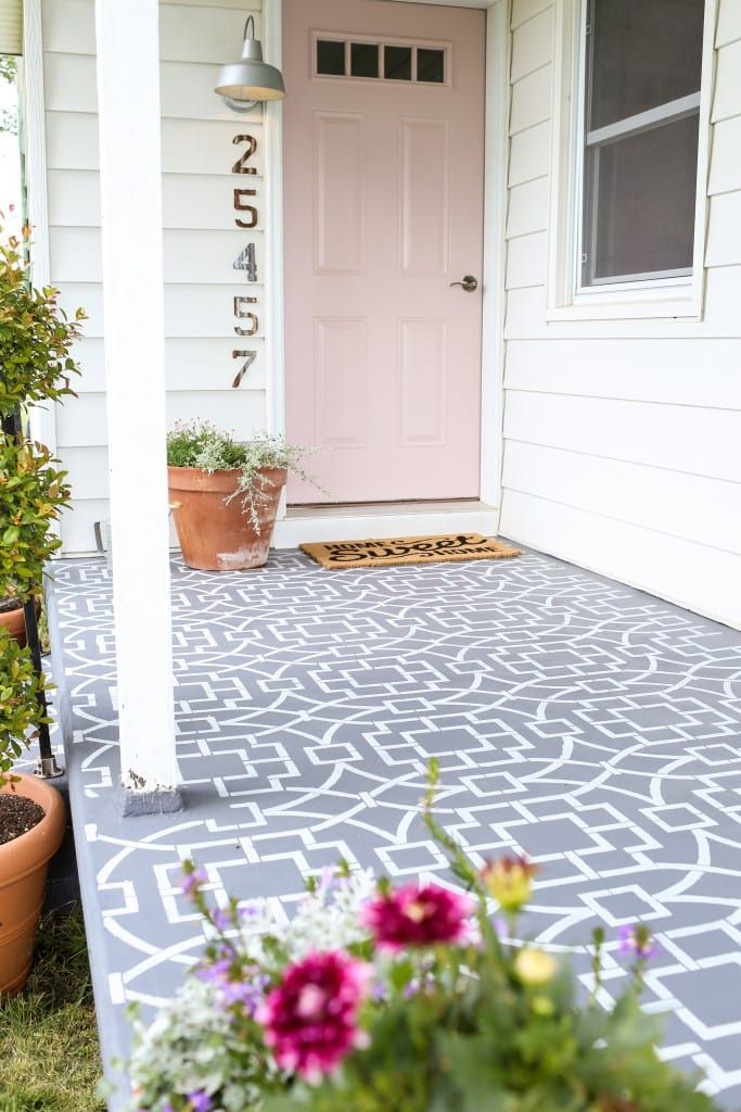 15 Beautiful Front And Back Porch Styling Ideas In 2020 Paint Concrete Patio Painting Tile Floors Painting Concrete