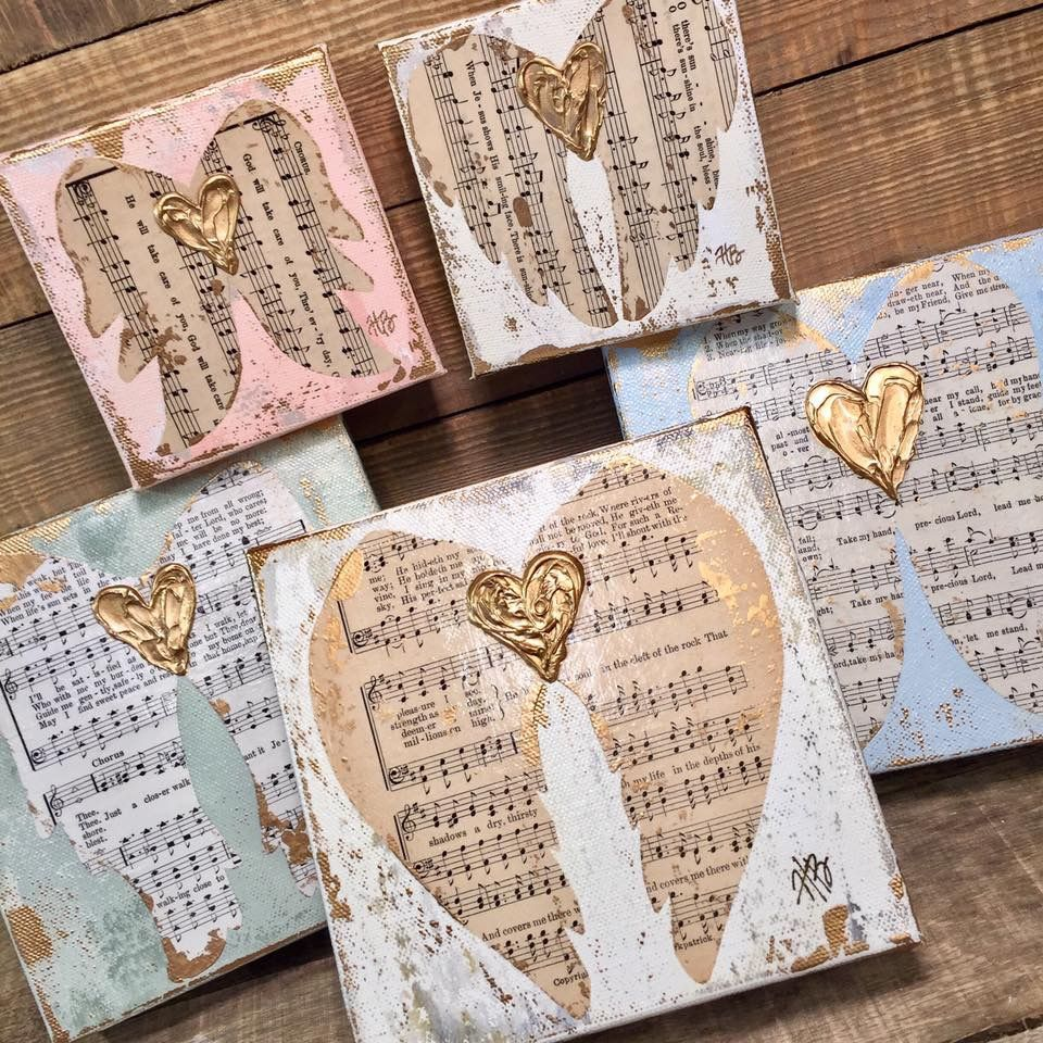Pin By Marlee Cross On Angels And Wings And Churches Barns Windmills Cotton Campers Book Crafts Sheet Music Crafts Hymnal Crafts