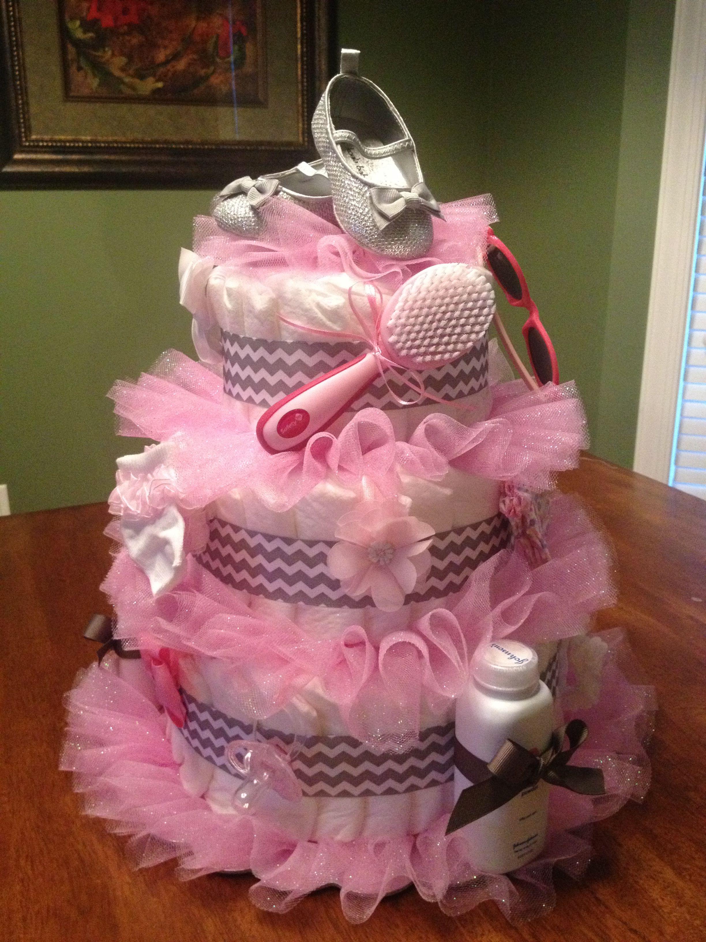tutu diaper cake baby shower pinterest