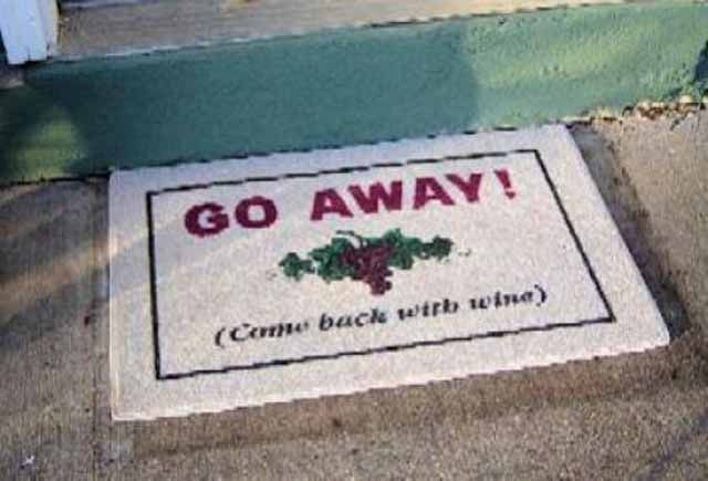 Creatively Funny Doormats 24 Mats Funny Doormats Wine Quotes