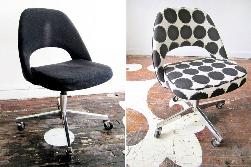 Office chair reupholstery Dining Chair Vintage Office Chair Vintage Chairs Saarinen Chair Eero Saarinen Chair Reupholstery Pinterest Pin By Ande On New Place Chair Saarinen Chair Chair Reupholstery