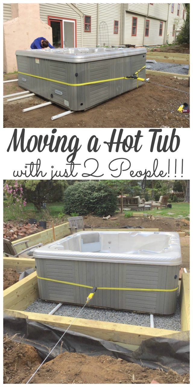 Moving A Hot Tub With Just 2 People Easy Step By Step Lehman Lane Hot Tub Patio Hot Tub Backyard Hot Tub Outdoor