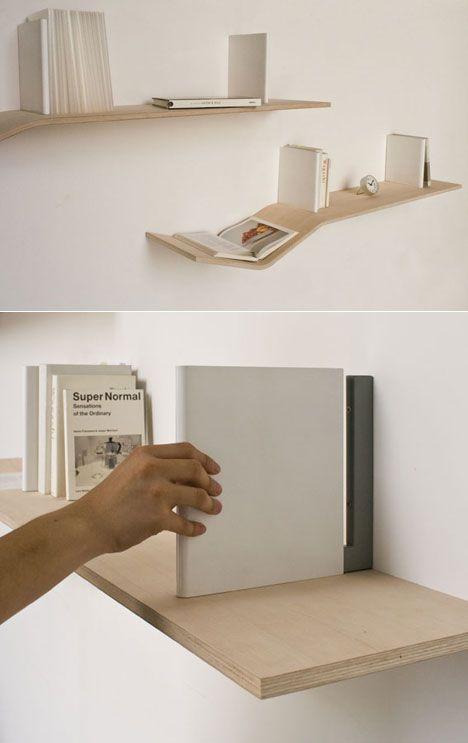 Barcelona Based Design Studio Outofstock Has Designed The Simple Book  Storage Furniture Called U201cV Shelvesu201d. The Laminated Plywood Shelf Features  A Gentle U201c