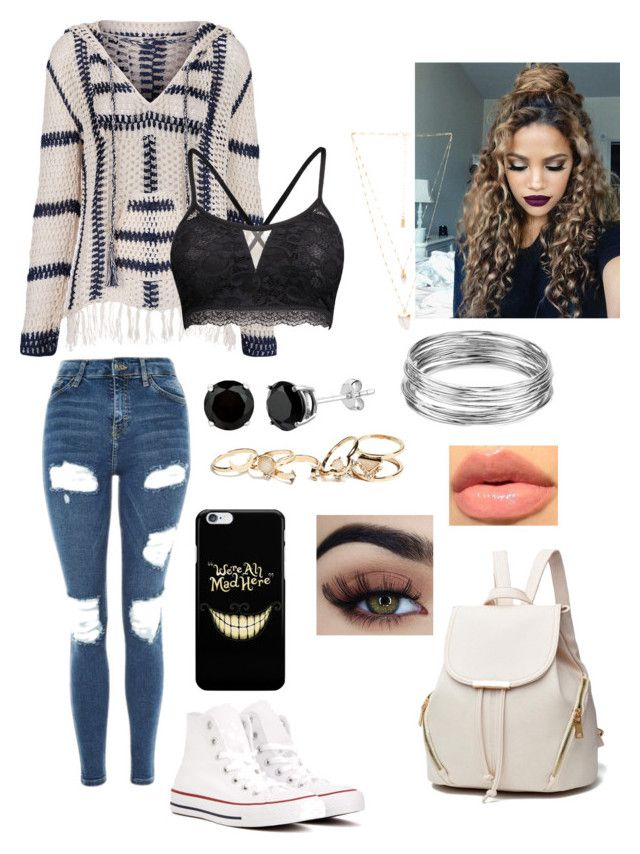 """Untitled #128"" by daeaneiram on Polyvore featuring Anna Kosturova, Topshop, Converse, Natalie B, GUESS and Aqua"