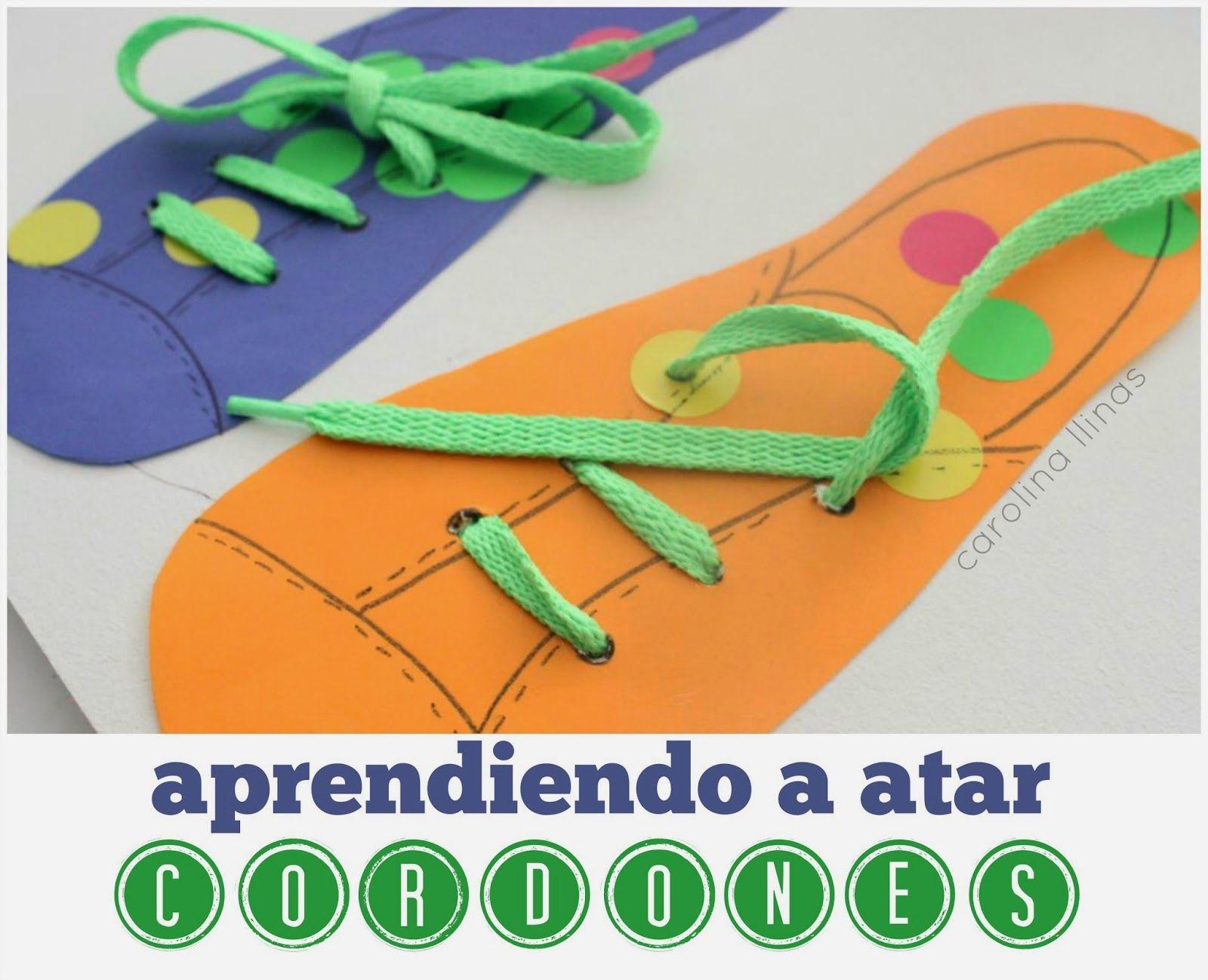 juego para aprender a atar cordones de zapatos