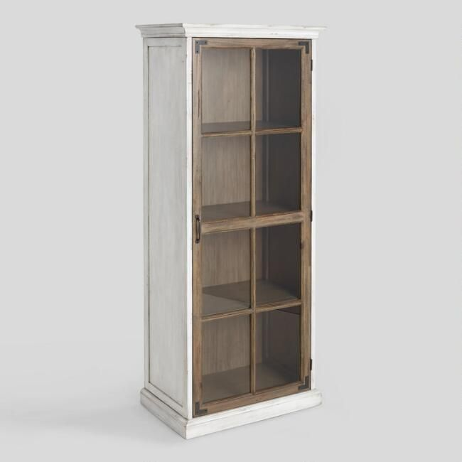 Two Tone Wood Camilla Farmhouse Curio Cabinet - V1