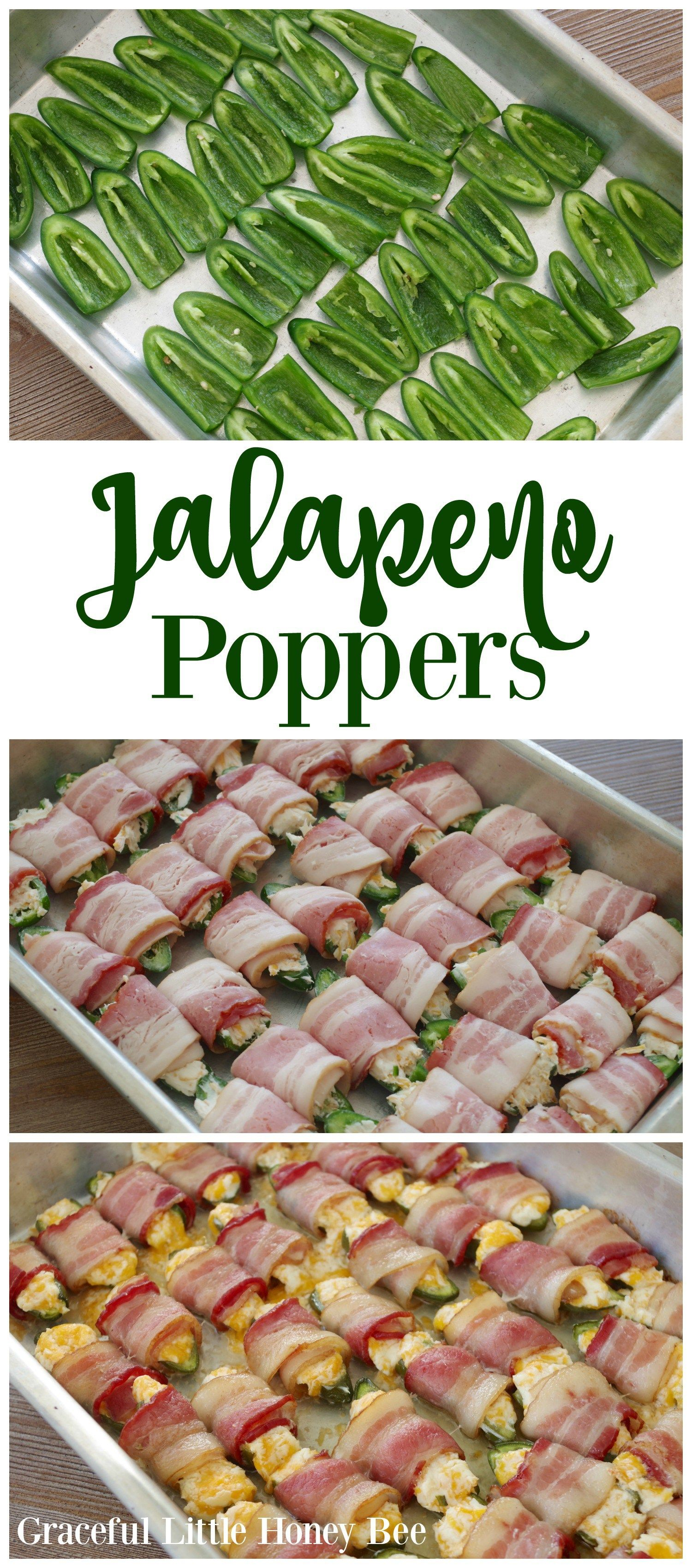 Cheesy Bacon Jalapeno Poppers - Graceful Little Honey Bee