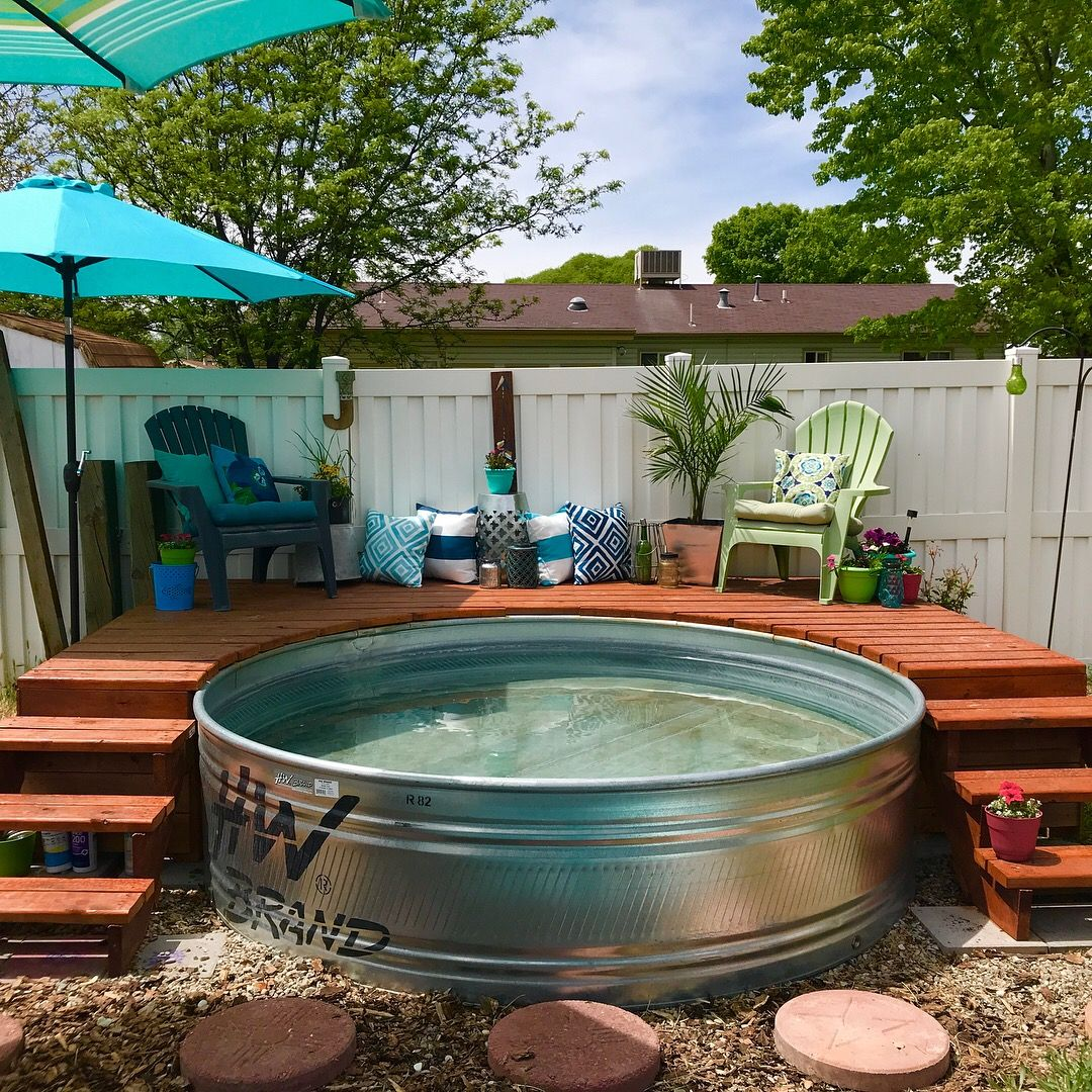 I Upgraded My Stock Tank Pool #stocktank #deck
