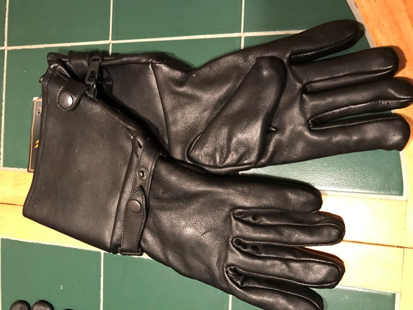 Insulated leather motorcycle gloves - Milwaukee Leather Womans Deer Skin Gauntlet Insulated Gloves Size 3x