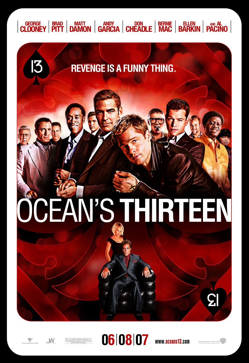 Ocean S Thirteen With Images Oceans Thirteen Thirteen Movie