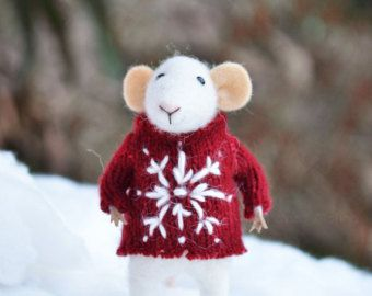 Little Winter Christmas Mouse-