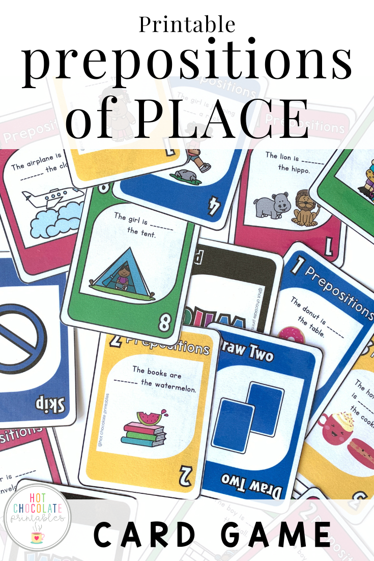 Prepositions Card Game Prepositions Card Games Card Games For Kids [ 1102 x 735 Pixel ]