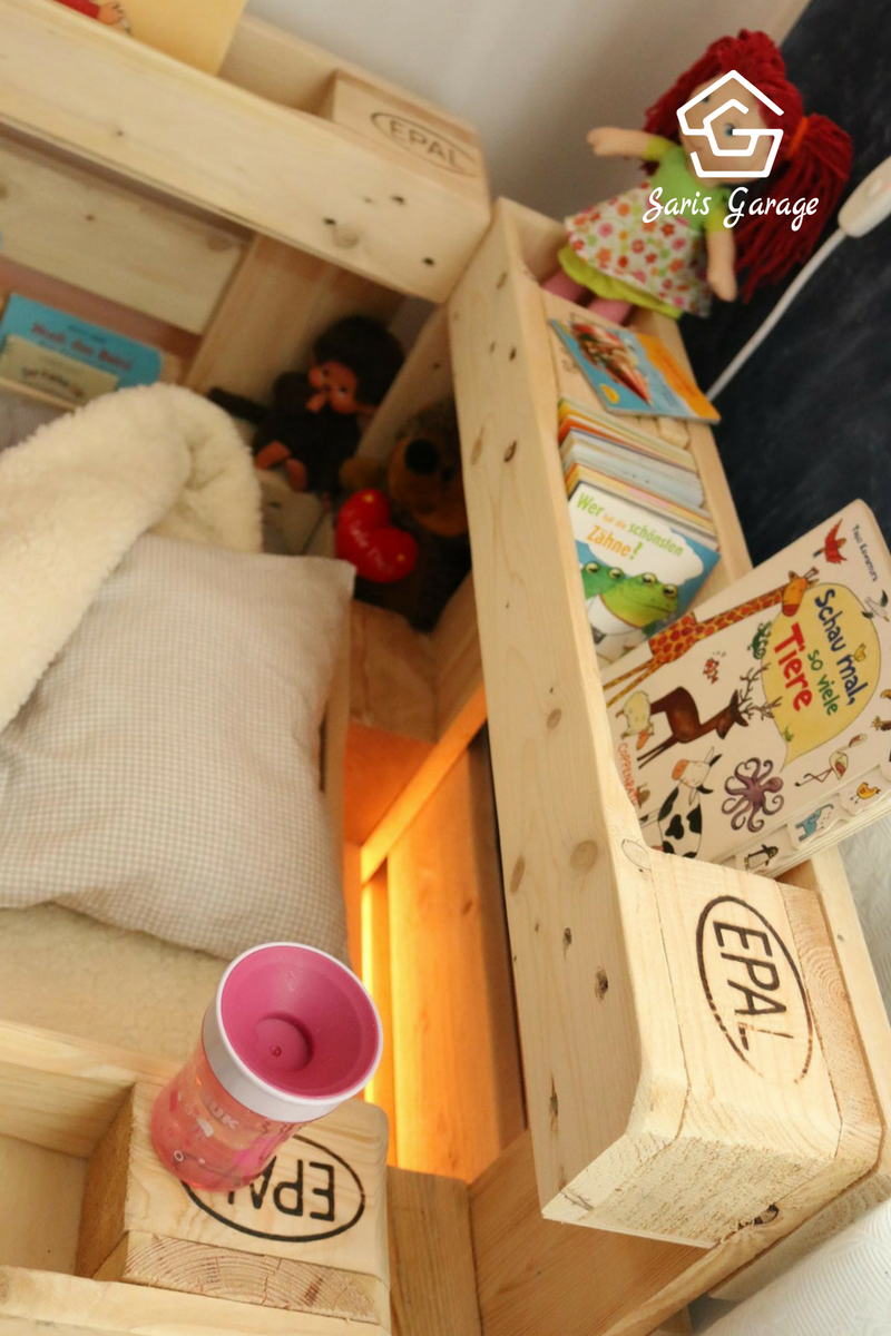 palettenbett fr kinder kinderbett aus europaletten diy anleitung - Do It Yourself Kopfteil Designs
