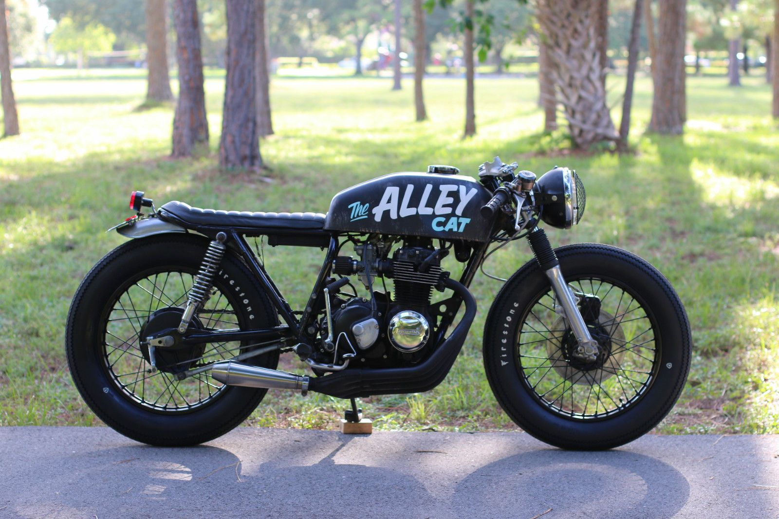 "click here to bid on ebay 1977 honda cb400f cafe racer ""alley cat"
