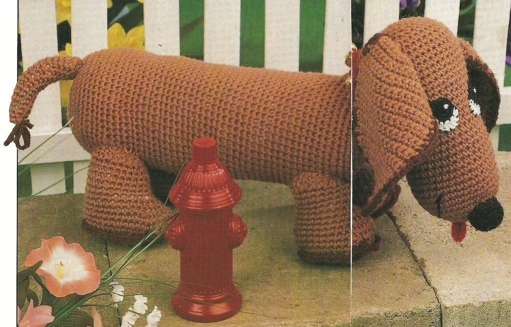 Nutmeg the Dachshund crochet PATTERN INSTRUCTIONS | Nicht vergessen ...