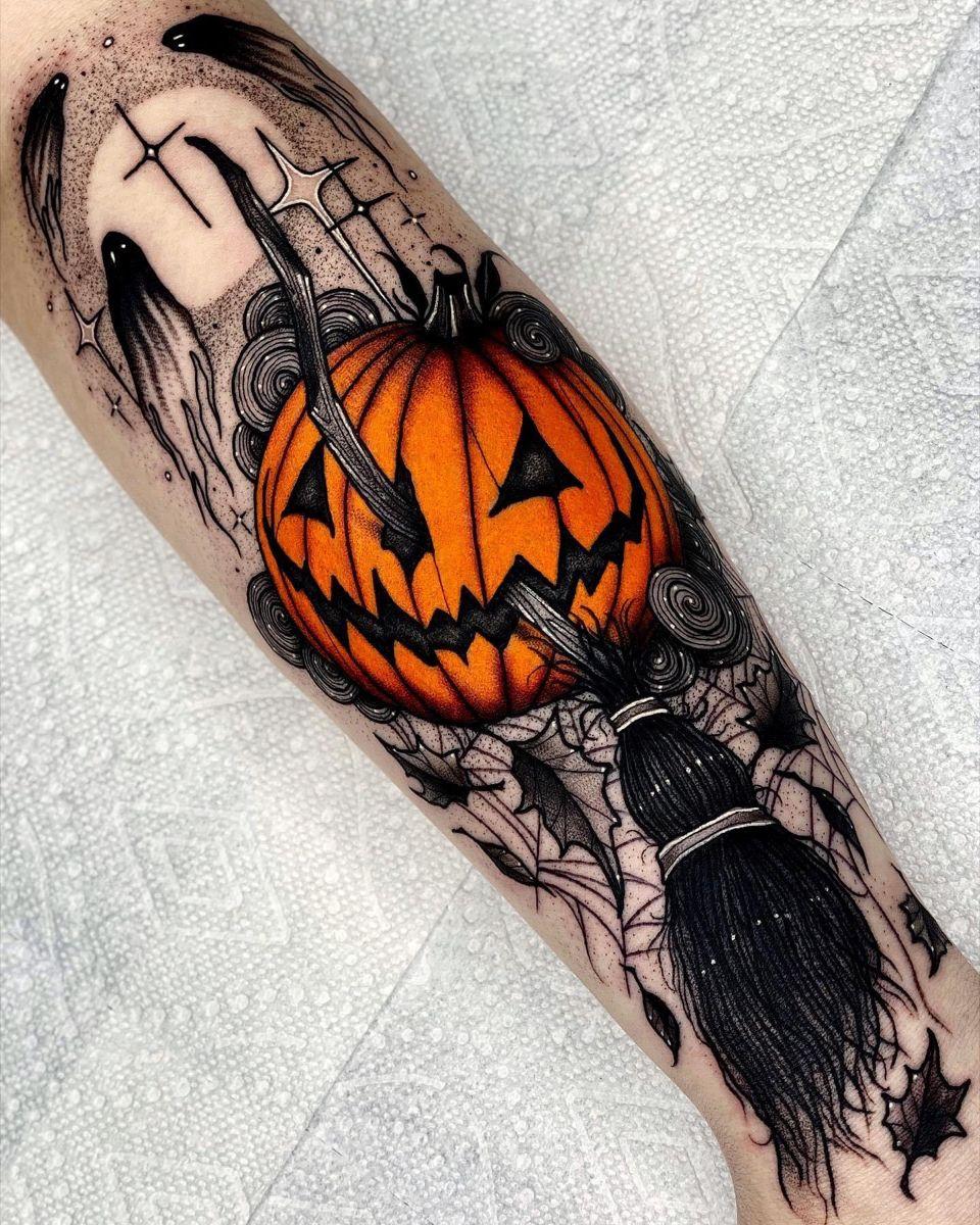 Halloween Tattoos.Halloween Tattoo Halloween Tattoos Pumpkin Tattoo Cool Tattoos