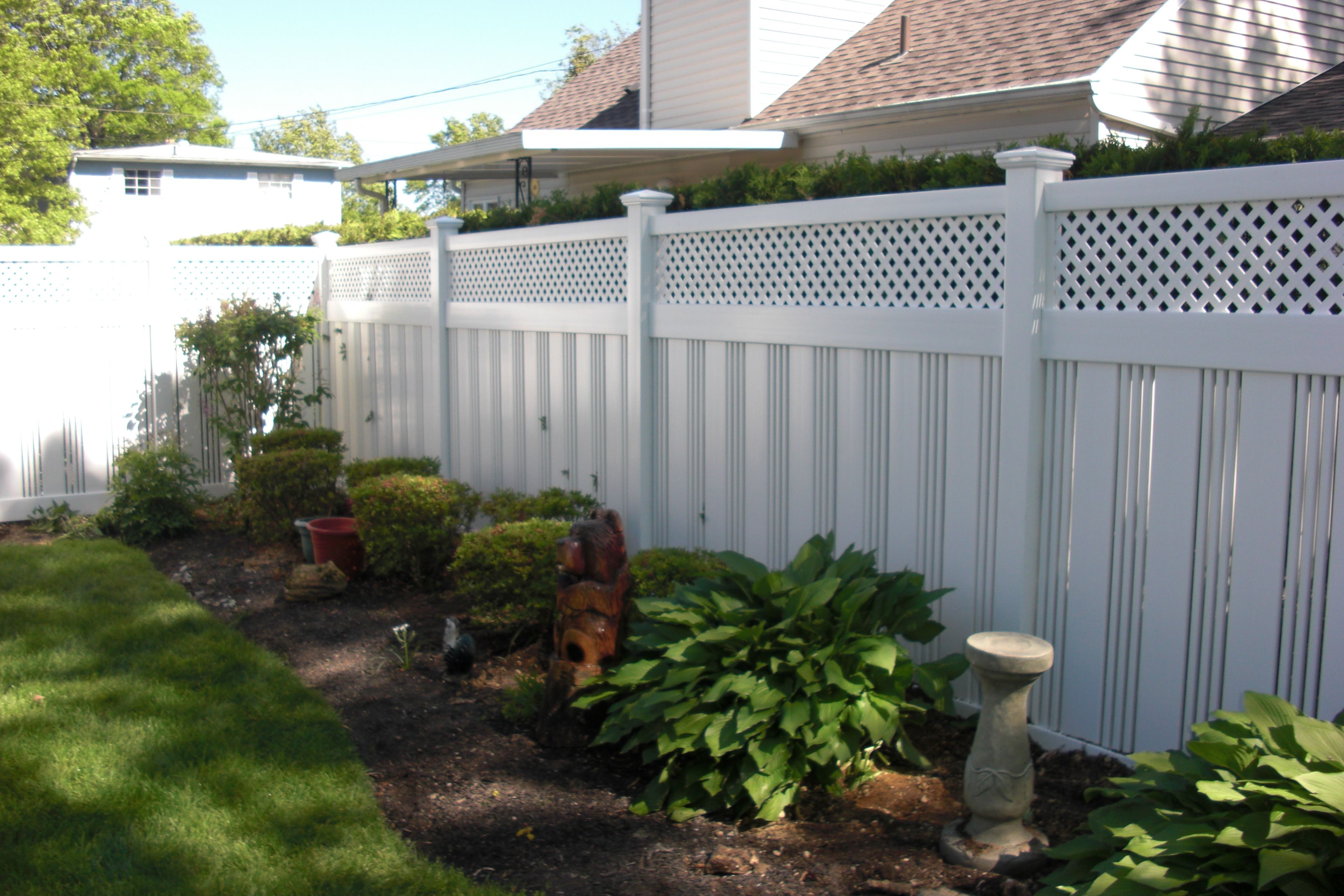 72 Eclipse With Privacy Lattice Top Pvc Fence Fabricated And