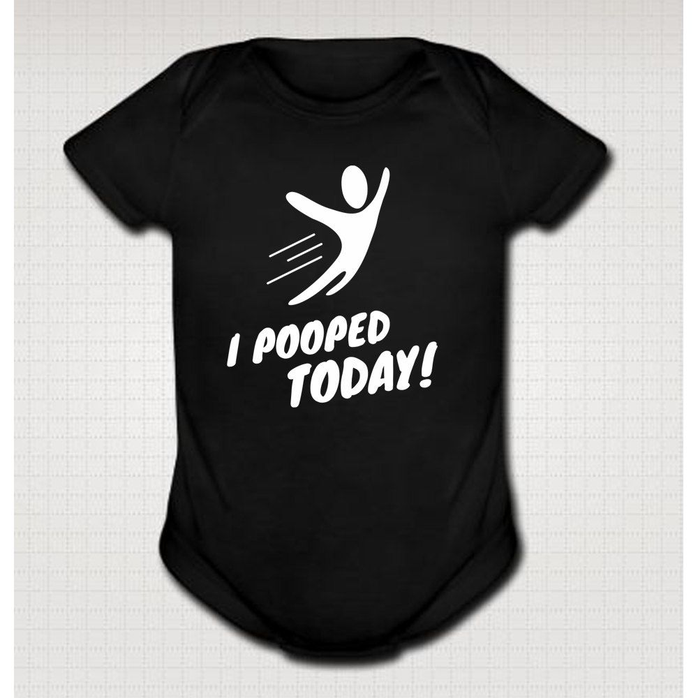 i pooped today funny infant baby shower one piece tshirt onesie
