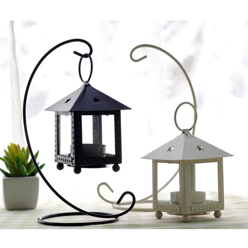 Wrought Iron Hurricane Candle Holders