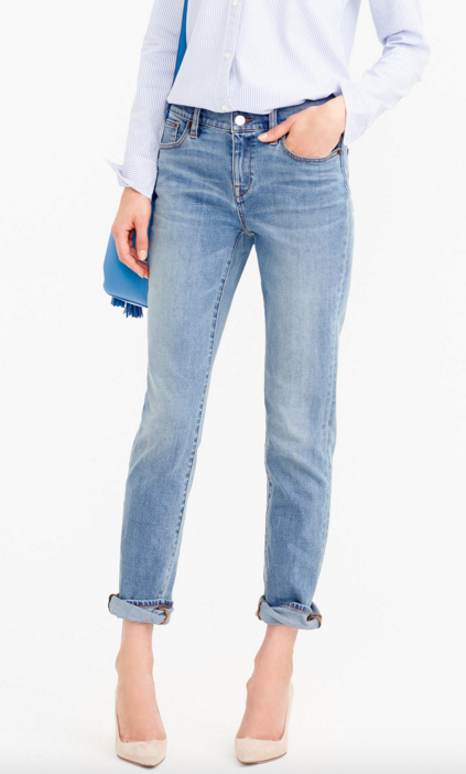 Slim Broken-In Boyfriend Jean
