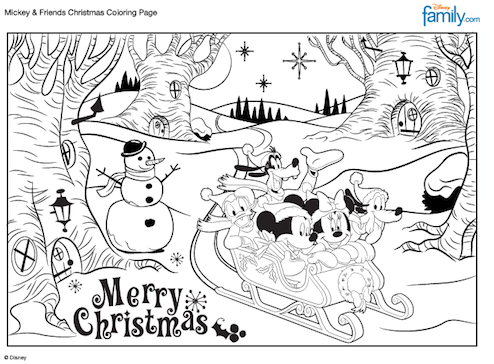 10 Disney Holiday Crafts For Kids Christmas Coloring Pages Christmas Colors Kids Christmas Coloring Pages